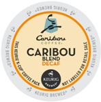 Caribou Coffee Kcups Decaf Natural Blend 4/24ct