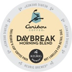 Caribou Coffee Kcups Daybreak Morning 4/24ct